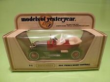 MATCHBOX YESTERYEAR Y-2 PRINCE HENRY VAUXHALL 1914 - RED - EXCELLENT IN BOX