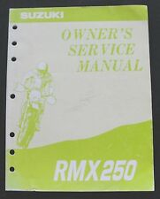 ORIGINAL 1993-1994 SUZUKI 250 RMX250 DIRT BIKE MOTORCYCLE OWNERS' SERVICE MANUAL