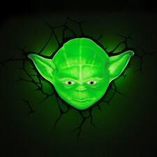 Star Wars Yoda 3D Deco LED safe Night Wall Light Bedroom Lighting Crack Sticker