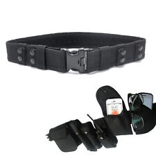Black Heavy duty Security Guard Paramedic Army Police Utility Belt Quick Release