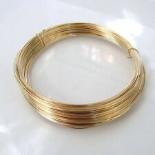 14K YELLOW GOLD-FILLED ROUND 22 GAUGE HALF HARD WIRE - BY THE FOOT - MADE IN USA