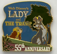 Walt Disney's Lady and the Tramp 55th Anniversary Pin LE