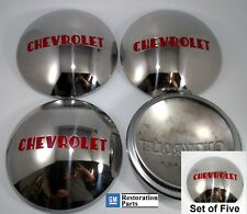 CHEVROLET 1/2T TRUCK HUBCAP SET 5 STAINLESS 1947-1953 (FITS FORD WHEEL 1940-56)