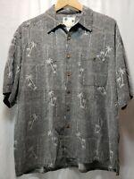 Men's Banana Cabana Hawaiian Shirt size L 100% Silk