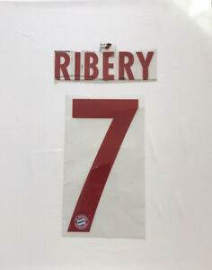 Ribery # 7 Bayern Munich 2014-15 Away Name & Number Authentic Player Issue