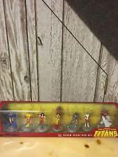 The New Teen Titans PVC 7 Figure Set DC Comics Raven Flash Wonder Girl In Box