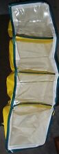 *New* Hanging Wardrobe Bag Closet Organizer 4 Shelf Zips Yellow Rv