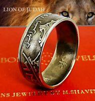 Lion Coin Ring Handmade Bible Jewish Israel  Judaica Torah Christian Evangelist