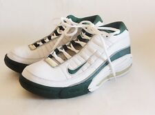 vintage nike air team Green White basketball shoes mens size 7.5 NWOB