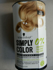 SCHWARZKOPF/SIMPLY COLOR PERMANENT COLOR/LIGHT BLONDE (9.0)/1 APPLICATION/NEW
