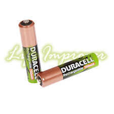 2 DURACELL AAA 750mAh standard RECHARGEABLE BATTERIES CAMERA ACCU LR6 HR6 DC1500