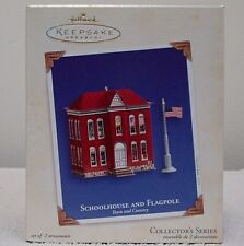 Hallmark Ornament Schoolhouse And Flagpole-Town & Country #5