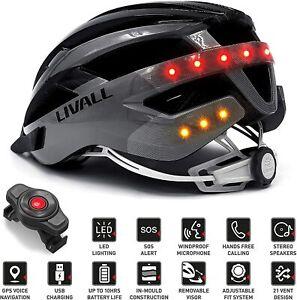 Livall MT1 Fahrradhelm E-Bike Musik Rücklicht Blinker Navi Anruffunktion SOS