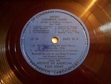 LIBRARY OF CONGRESS NEGRO ARCHIVE OF AMERICAN FOLK SONG w/BOOKLET-ALAN LOMAX
