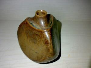 Vase Unknown Studio Pottery Keramik Markung: TP ?? H: 7,8 cm Dreieck Triangle ->