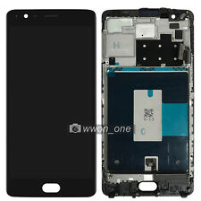 Black OnePlus 3 Three A3000 A3003 LCD Display Touch Digitizer Assembly Frame