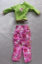 Barbie doll lot set pink dog poodle capri pants green shirt Mattel clothes