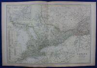 CANADA, ONTARIO, ENVIRONS OF MONTREAL, original antique map, Blackie, 1882