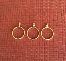 PACK OF TWENTY GOLD PLATED SCREW TOP 25mm QUARTER COIN HOLDER BEZELS