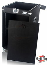 Rackmount Studio Mixer Road Case - DJ PA Flight Cabinet Stand Cart Equipment 25U