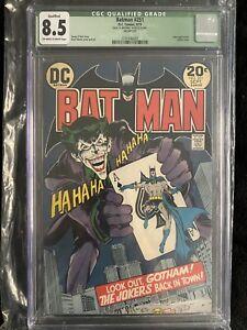 Batman #251 (1973) DC CGC 8.5 QUALIFIED Neal Adams Classic Joker Cover!