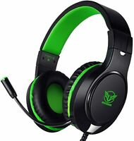 Masacegon H-10 Headphone Gaming Headset Xbox One PS4 PC Nintendo Surround Green