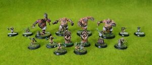 Warhammer Blood Bowl Ogre Team painted fire Mountain gutbusters team