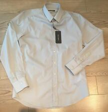 Men's Dolce and Gabanna Gold Dress Shirt Gray 16R