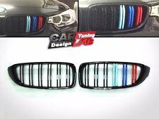 Front Kidney Glossy Black Grille Grill Tri Color For BMW 4er F32 F33 F36