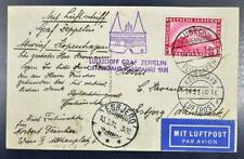 GERMANY to DENMARK 1931, $$$, ZEPPELIN,Rare Ostsee/Baltic Sea Flight Airmail PPC