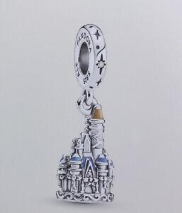 Walt Disney World 50th Anniversary Cinderella Castle Charm by PANDORA NEW