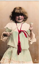 CHILDREN : Young Girl with a Diabolo stick and top -RP-  RK