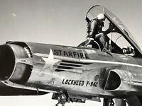 Vintage Military Jet USAF BW 8x10 USA Photo F94 Starfire Airplane Tarmac Pilot