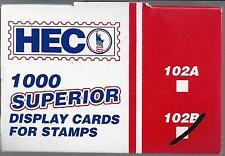 Box of 1000 HECO or Uni-Safe 102B Cards Black 4-1/4 x 2-3/4 FREE U.S. SHIPPING