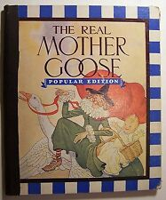 THE REAL MOTHER GOOSE Popular Edition ILLUS Blanche Fisher Wright 1943 HC - R1