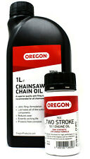1 LITRE OREGON® CHAINSAW CHAIN BLADE OIL + RED TWO STROKE 50:1 ENGINE ONE SHOT