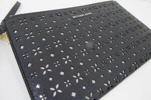New Authentic Michael Kors Women's Jet Set XL Leather Clutch Wristlet Black SALE