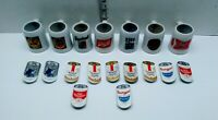 Vintage Lot MILLER-High Life Beer mini Stoneware Mug Shot Glass and Pins Lot 18