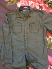 converse shirt long sleeve grey mens tops casual large