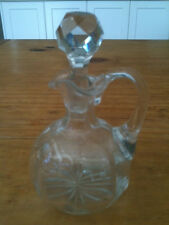 "VINTAGE CRYSTAL JUG w/ BALL STOPPER 6"" TALL VERY ELEGANT"