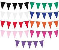 10m Flag Pennant Plastic Bunting Garland Summer Garden Party Pub Shop Decoration