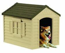 Dog House Pet Large Kennel Outdoor Suncast DH250 Durable Resin Shelter Yard Door
