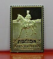 Gold plated on Sterling Silver Stamp Ingot Australia KGV Silver Jubilee 2s 17.4g