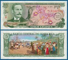 Costa Rica 5 colones 1975 commemorative UNC p.247