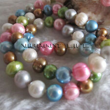 "22.5"" 7-9mm Multi Color Freshwater Pearl Necklace MC2 AC"