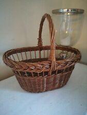 Wicker Shopping Basket Vintage Retro