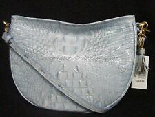 NWT! Brahmin Mini Kathleen Hobo Shoulder/Crossbody Bag in Chambray. Light Blue