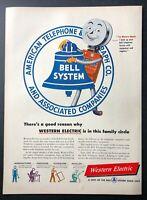 Original 1948 Magazine Print Ad BELL SYSTEM Telephone Western Electric Man