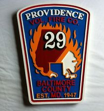 Fire Department Providence 3D routed carved wood patch plaque sign Custom
