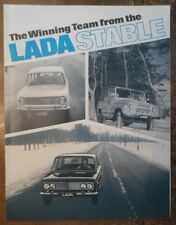 LADA VAZ-2102 2103 & UAZ 469B Orig 1973 USA Mkt folleto de ventas